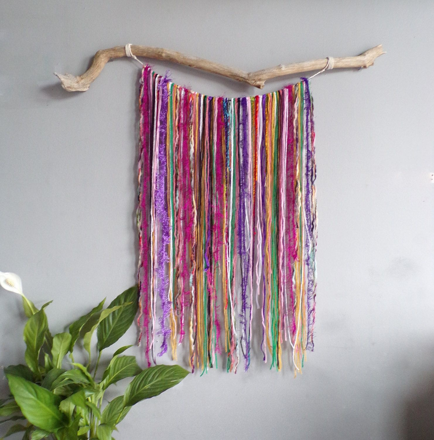 Wall Decorations Boho : Large yarn wall hanging decor boho art bohemian