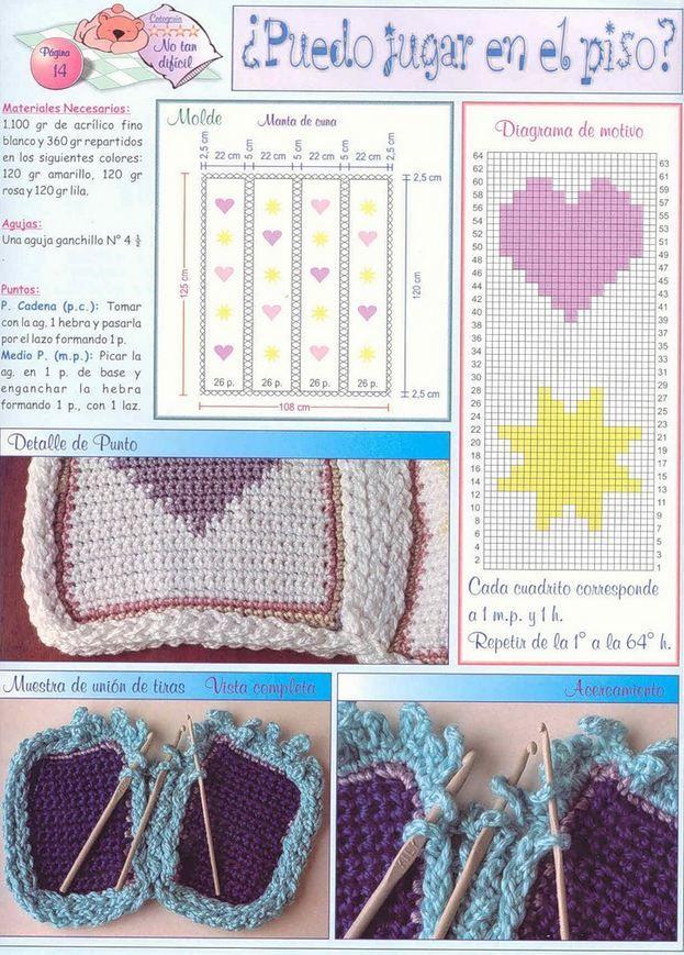 Patrones crochet de manta para bebé | Todo crochet | bebes ...