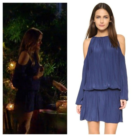 The Bachelorette Season 12 Episode 9 Jojos Navy Blue Cold Shoulder Drop Waist Dress