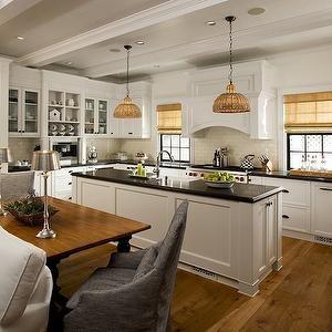 Vallone Design - kitchens - u-shaped kitchen, white Shaker cabinets on u shaped contemporary kitchens, u shaped bathroom vanity, v shaped kitchen sink, u shaped copper sink,