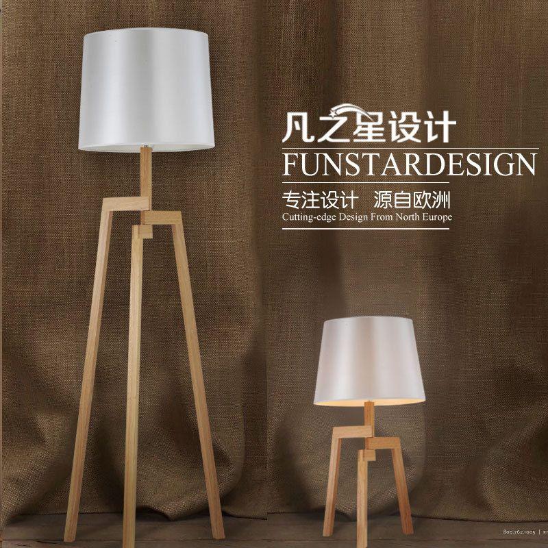 creative minimalist modern wood tripod floor lamp scandinavian study of ikea living room bedroom floor standing - Standing Lights For Living Room