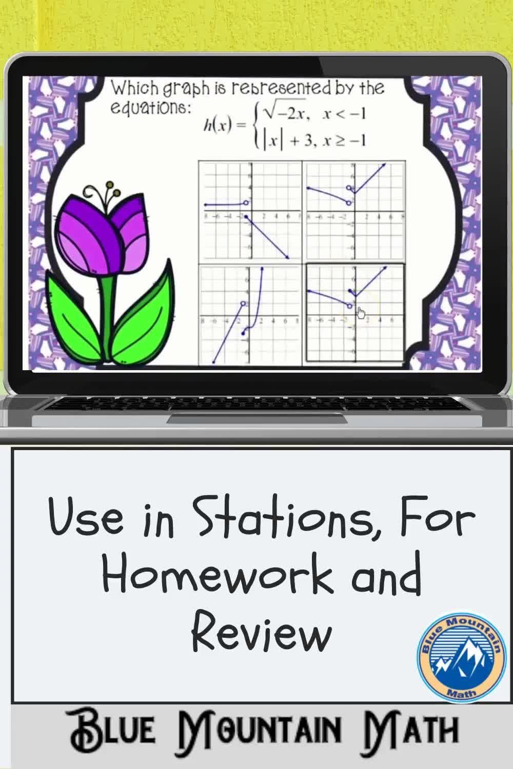 Graphs Of Piecewise Functions Boom Cards Digital Task Cards Video Task Cards Algebra Projects Digital Task Cards [ 1500 x 1000 Pixel ]