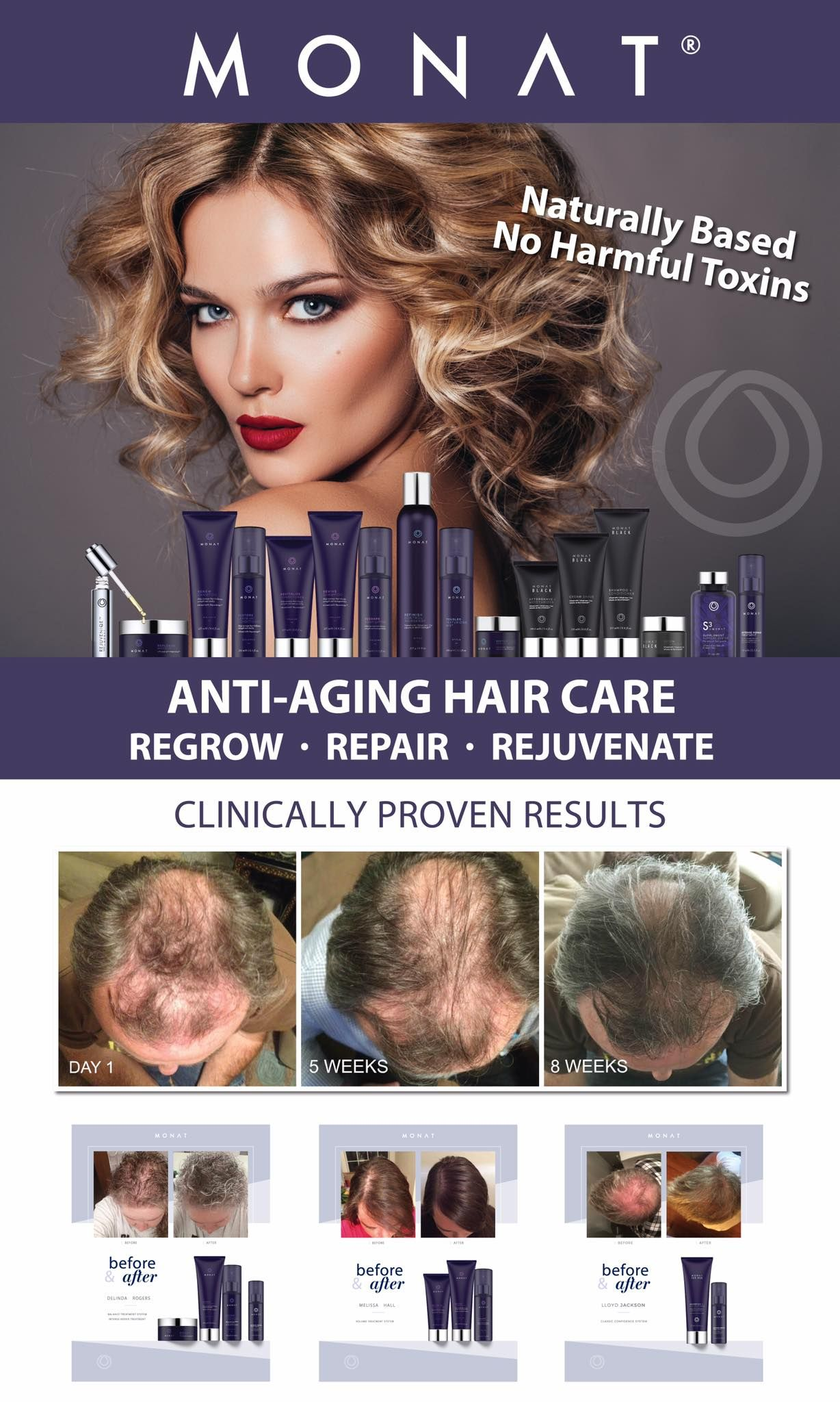 Monat offers naturally based shampoo, conditioner and many