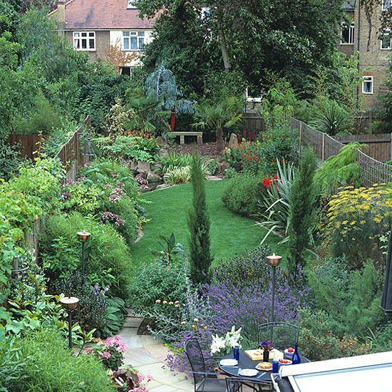Suburban Garden Haven Garden Furniture Landscape Design Decorating Ideas Ideal Home Narrow Garden Garden Design Plans Small Garden Design