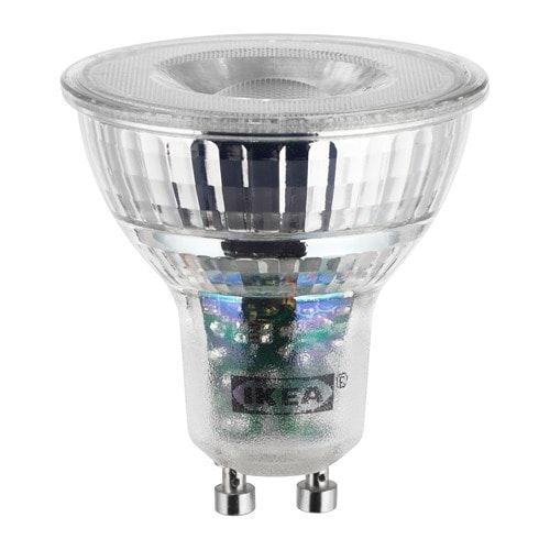 2dbe65c7924 LEDARE LED bulb GU10 400 lumen IKEA The LED light source consumes up to 85%  less energy and lasts 20 times longer than incandescent bulbs.