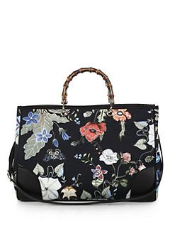 125271b5ef3e Gucci - Bamboo Shopper Large Flora Knight Canvas Tote | Arm Candy
