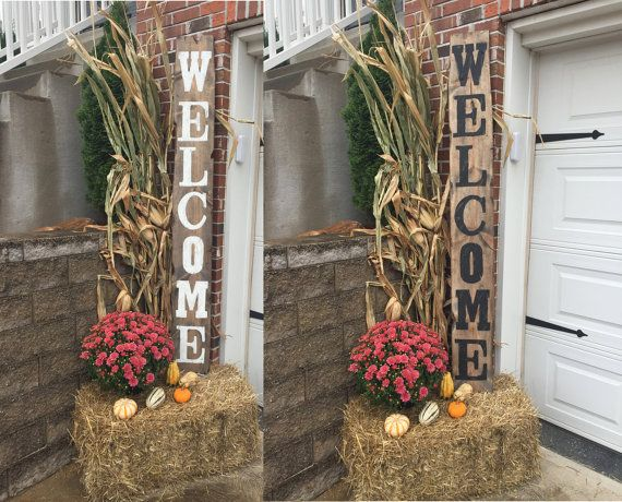 Welcome Sign Decor Classy Yard Signs Decorative Signs Wood Name Signs Vertical Signs Decorating Inspiration