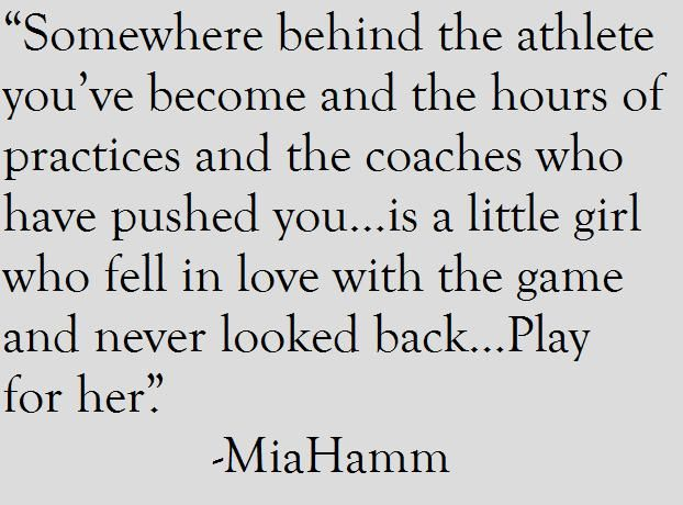 Just A Little Girl Who Fell In Love With The Game And Never Looked Back 3 Soccer Quotes Sport Quotes Sports Quotes