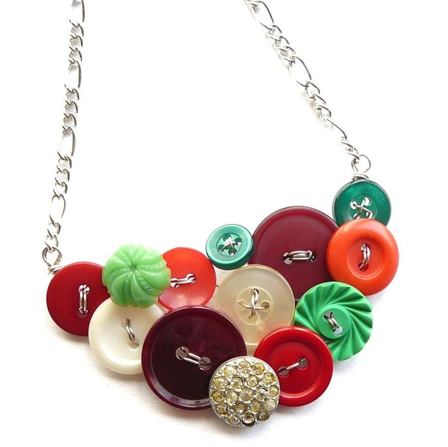 Buttons Jewelry The Chain Is Hideous But I Could Change That