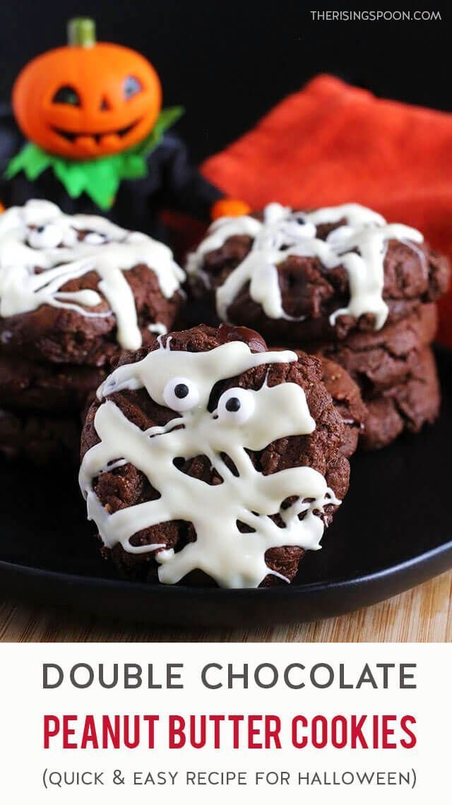 An easy 20minute recipe for homemade double chocolate peanut butter cookies that are thick soft  cakey Fix these soft  cakey flourless cookies when youre craving a homema...