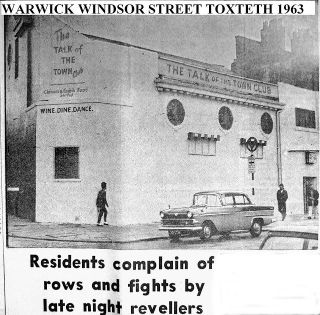 the Warwick / Talk of the Town club,1962