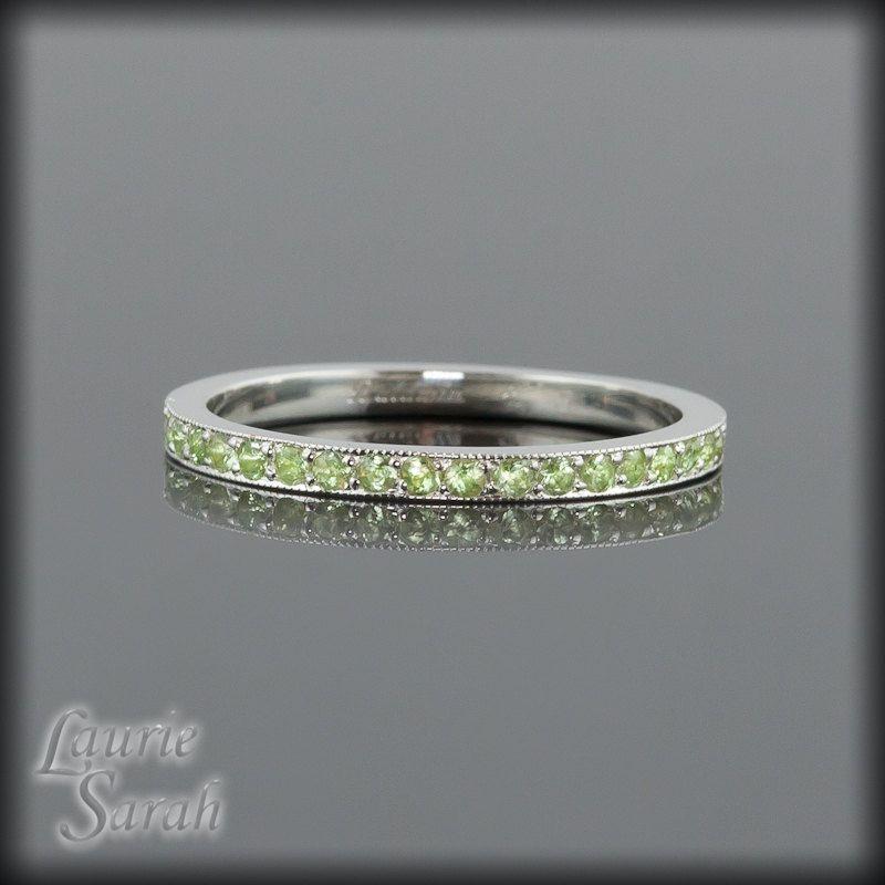 Birthstone Peridot Ring Peridot Jewelry Peridot Ring Blue Rings