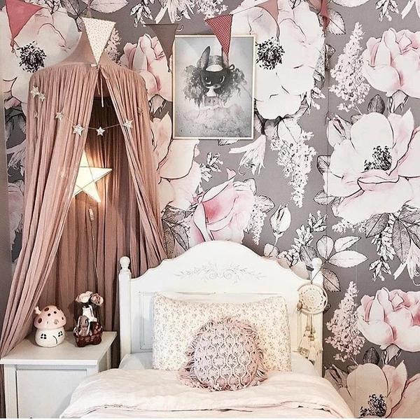 Dusty Rose Wallpaper (SelfAdhesive) Nursery wallpaper