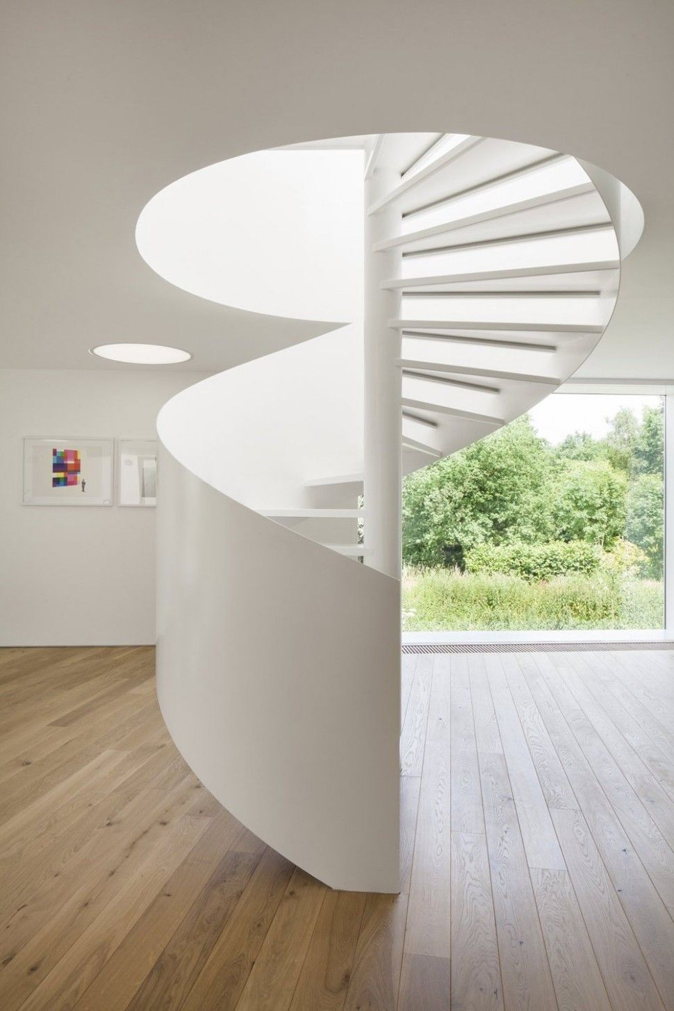DecorationsIntresting White Spiral Staircase Interior Designs With