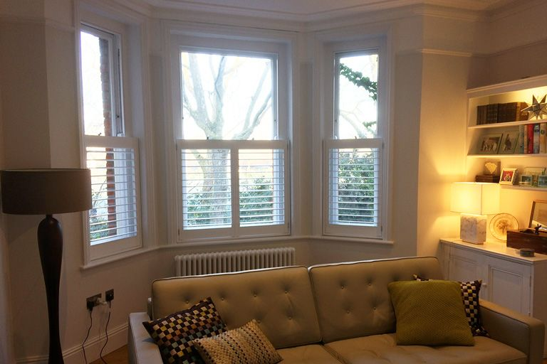 Pin On Cafe Style Shutters #shutters #in #living #room