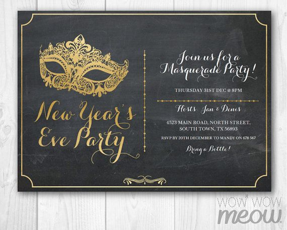 Masquerade Party Gold Mask Invitation Elegant Birthday Invite Etsy Masquerade Party Invitations New Year S Eve Masquerade Party Masquerade Party