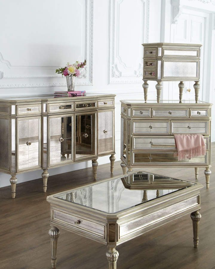 Dresden Mirrored Coffee Table Mirrored coffee tables