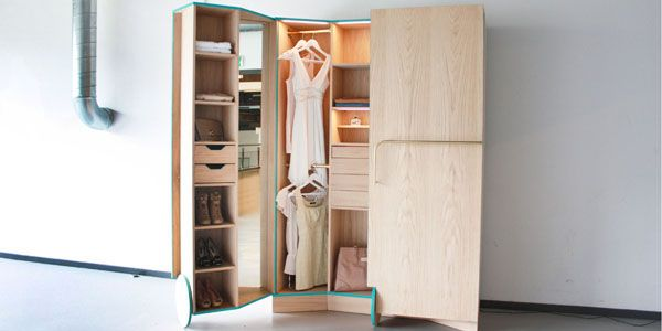 Mini Walk In Closet Great For Small Living Es Or Older Homes That Lack Closets Via Idesignarch