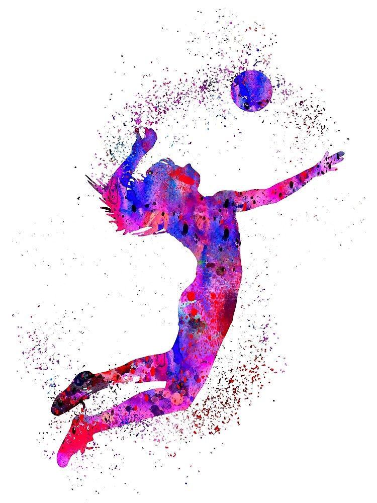 Volleyball Girl Watercolor Volleyball Girl By Rosaliartbook Redbubble In 2020 Volleyball Wallpaper Volleyball Drawing Volleyball Tattoos
