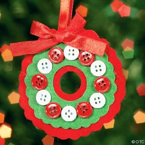 Adornos de navidad buenos bonitos y baratos botones for Manualidades navidenas preescolar