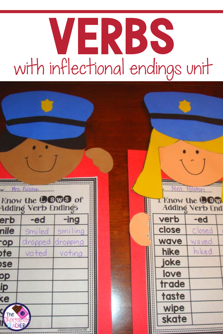 Action Verbs With Inflectional Endings Inflectional Endings Teaching Verbs Action Verbs [ 1102 x 735 Pixel ]
