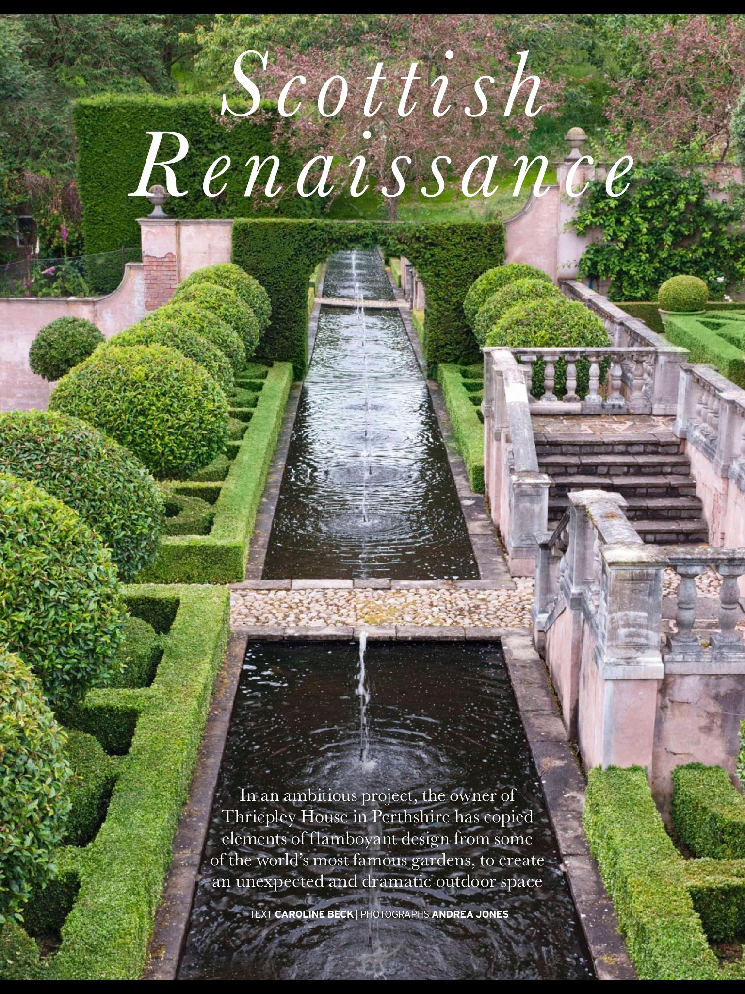 Thriepley House, Perthshire Italianate garden | Famous ...