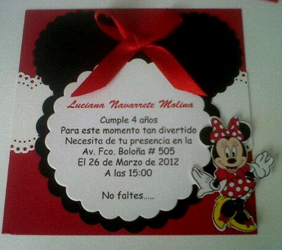 Modelo de tarjetas de cumpleaños Minnie Imagui Invitaciones Pinterest Minnie mouse and Mice