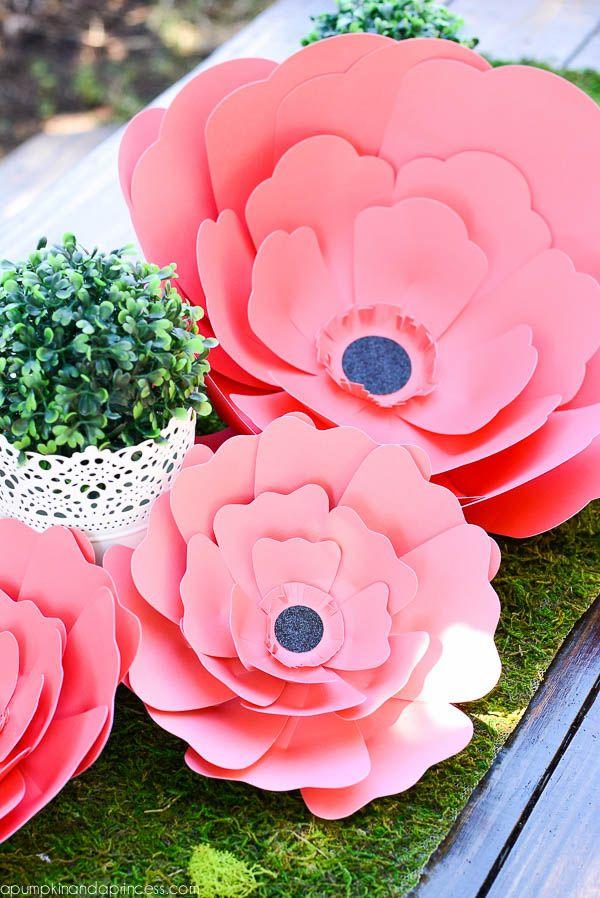 Paper Flower Centerpiece Paper Flower Centerpieces Paper