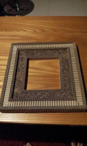 cadre en carton et dentelle mon travail en carton et papier pinterest. Black Bedroom Furniture Sets. Home Design Ideas