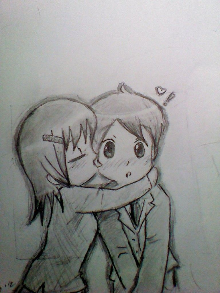 Cute pencil drawings of love cute chibi kiss by sux on deviantart