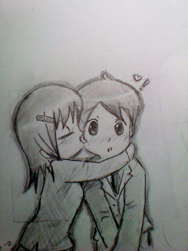 Cute pencil drawings of love cute chibi kiss by sux on deviantart
