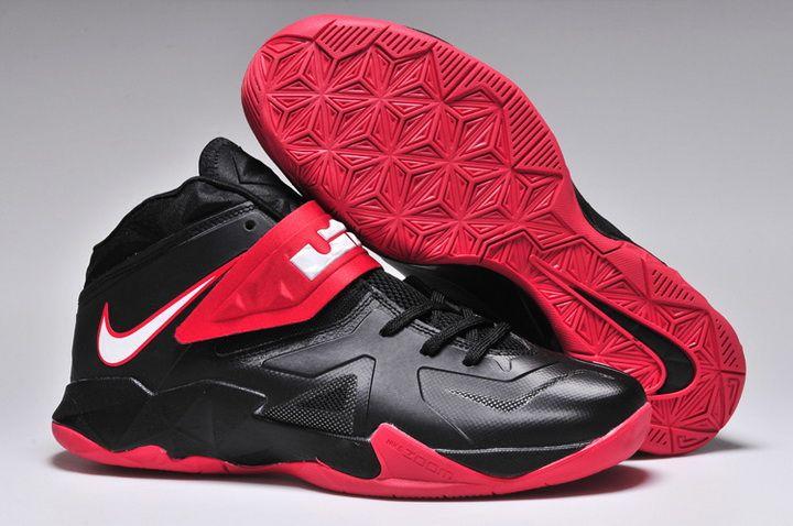 Mens Nike Zoom Lebron Solider Vii Black Red Shoe Buy Online