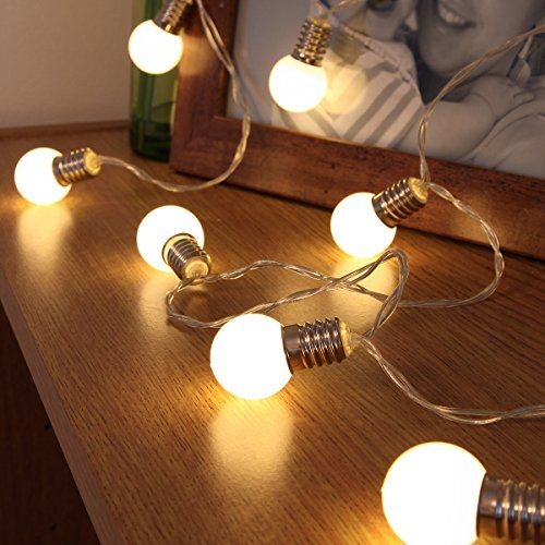 Battery Operated Mini Festoon Bulb Effect Fairy Lights 10 Warm White Leds By Festive Lights Amazon Co Uk Kitchen Home Fairy Lights