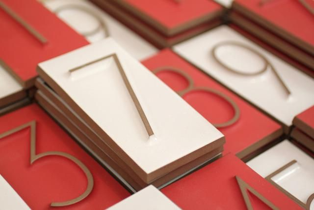 house numbers from Heath Ceramics