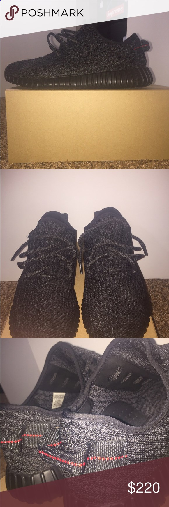 ef29ccdd36e Adidas yeezy boost 350 Pirate black Really good condition got a lot of life  left Yeezy