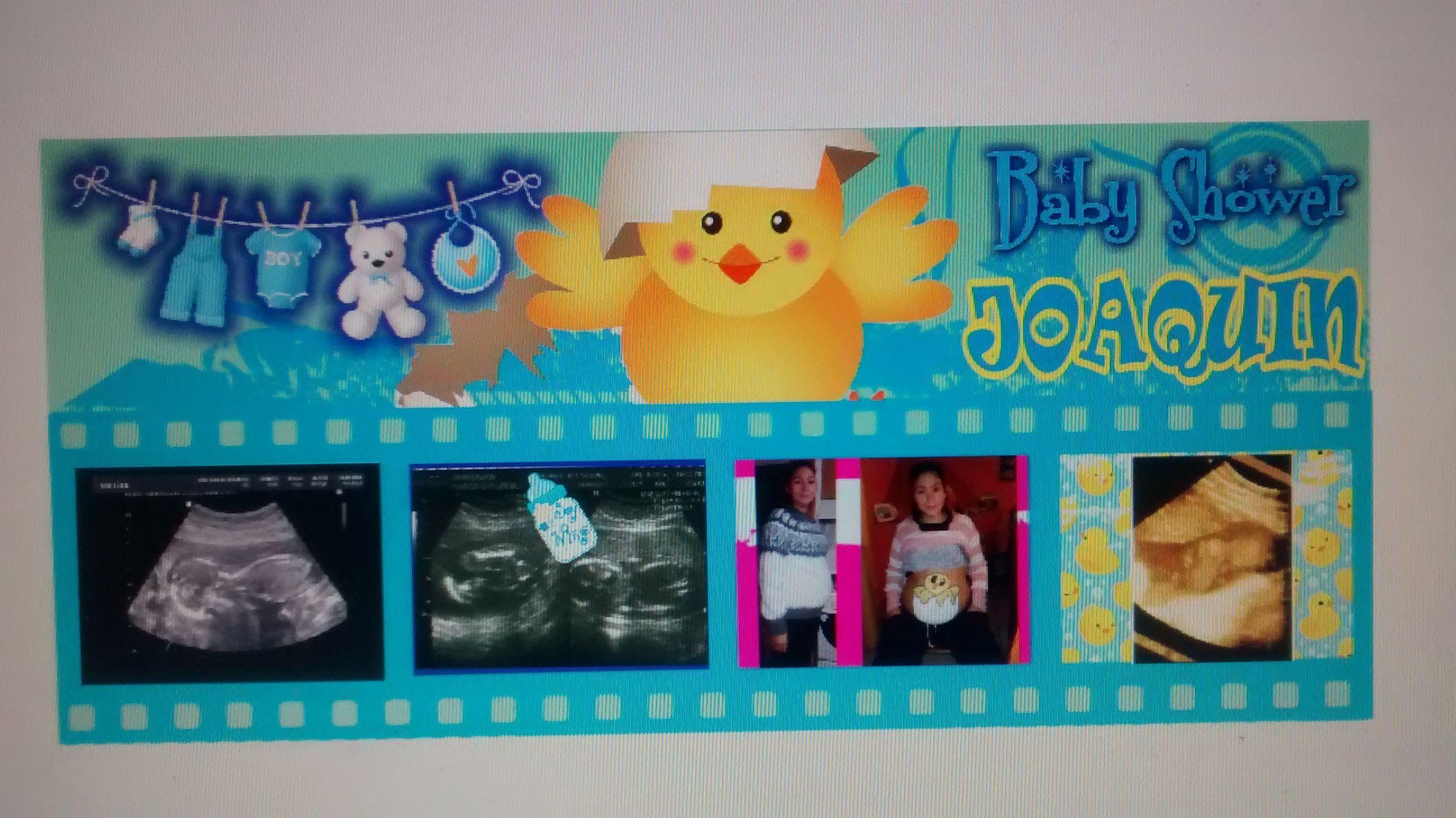 Diseño e impresión en lona para el baby shower de mi nieto