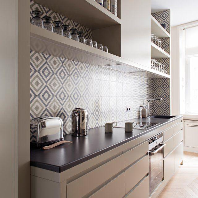 Un appartement pile dans l 39 air du temps robinet franke for Plan de travail plaque cuisson