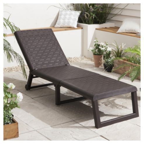 buy dream resin folding garden sun lounger wengue from our plastic garden furniture range at tesco direct