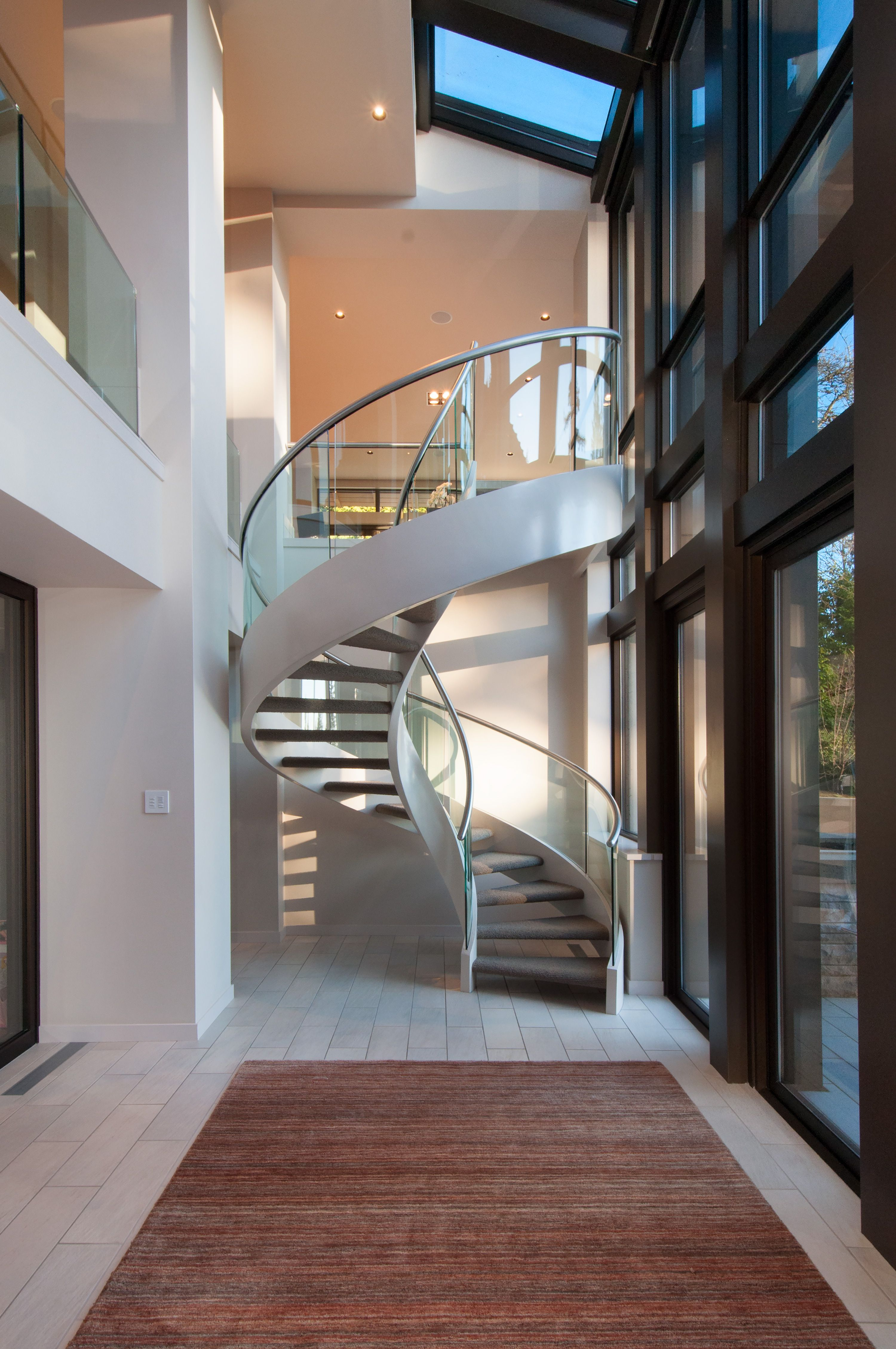 Spiral Staircase In West Vancouver #blurrdMEDIA #architecture #photography