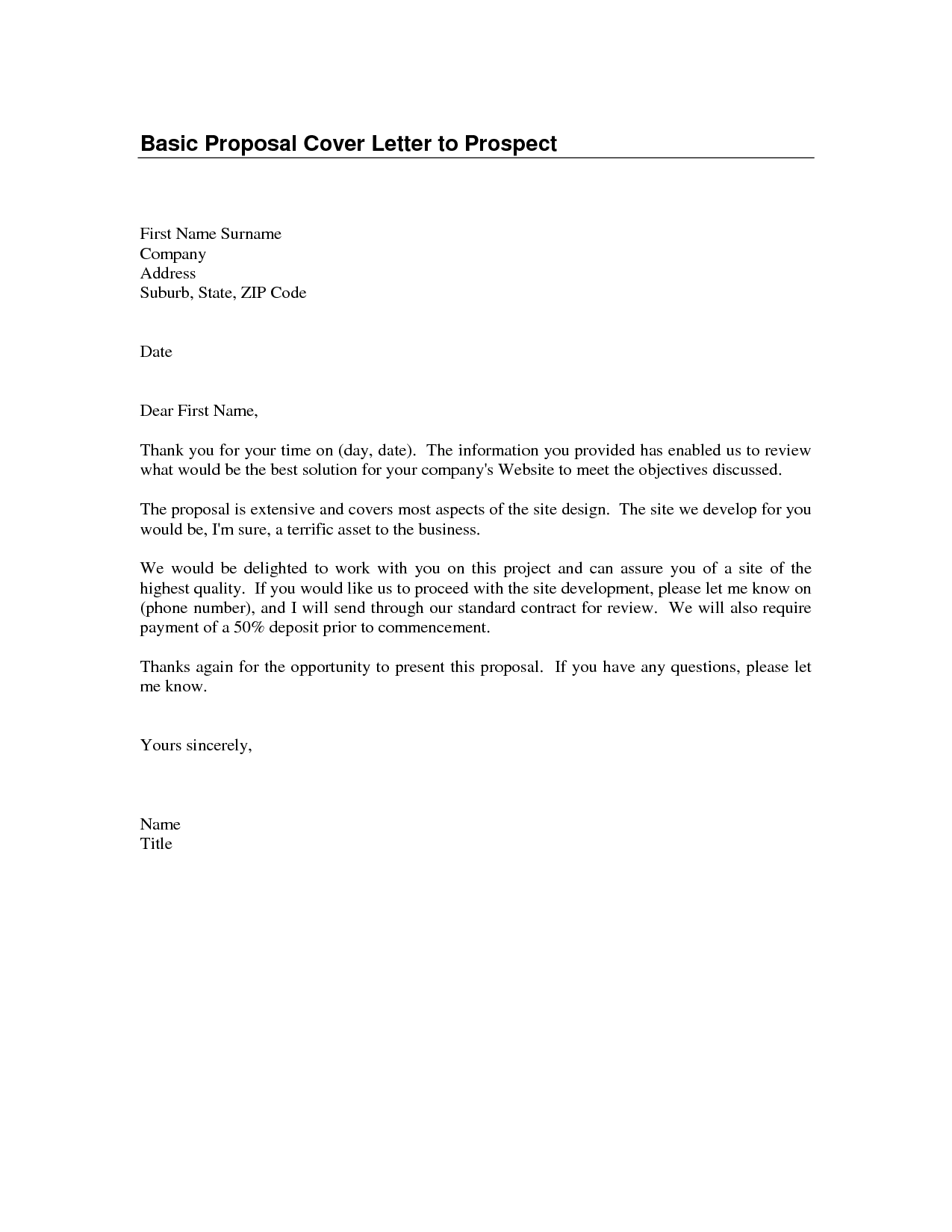 Cover Letter Basic Format - Format of a cover letter