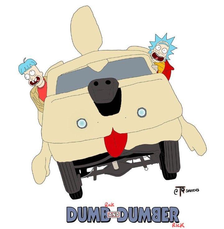 Rick And Morty X Dumb And Dumber Rick Rick And Morty Drawing Rick And Morty Morty