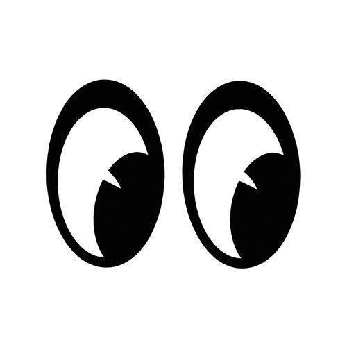 Mooneyes Stickers Moon Eyes Pair In 2020 Eye Stickers Art Drawings Simple Eye Art