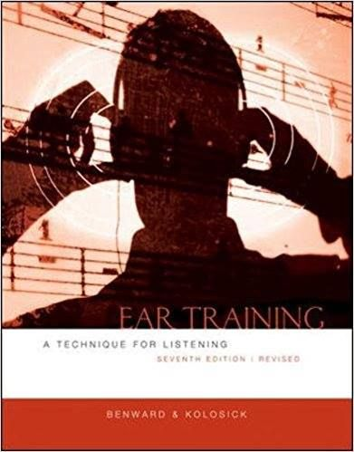 Ear Training Revised Edition 7e Benward Test Bank If You Want To Order It JUST Contact Us Anytime By Email Studentp24hotmail
