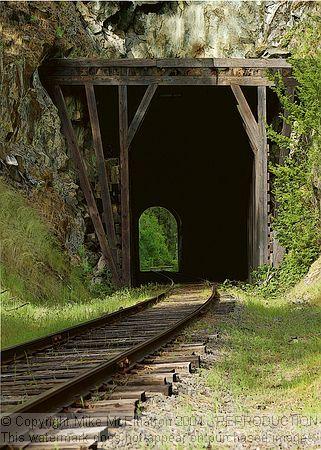 Railroad Tunnel Near Orofino Idaho Rh Train Tracks