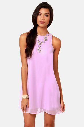 Chiff-On the Run Lavender Dress | Lavender