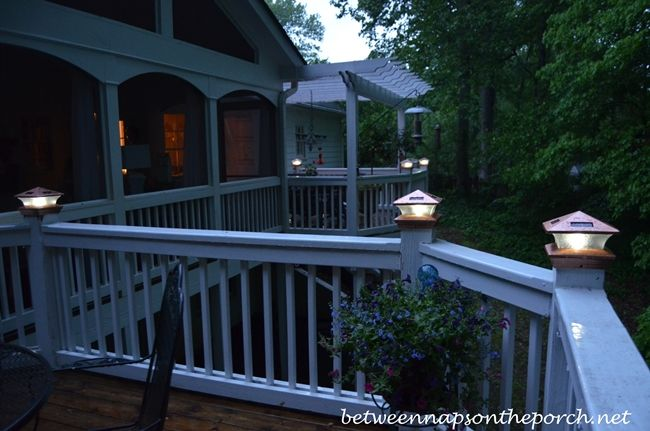 Solar Post Tops For Deck | Tiffany Solar Post Cap Lights By Maine  Ornamental | Outside | Pinterest | Decking, Solar And Deck Balusters Good Looking