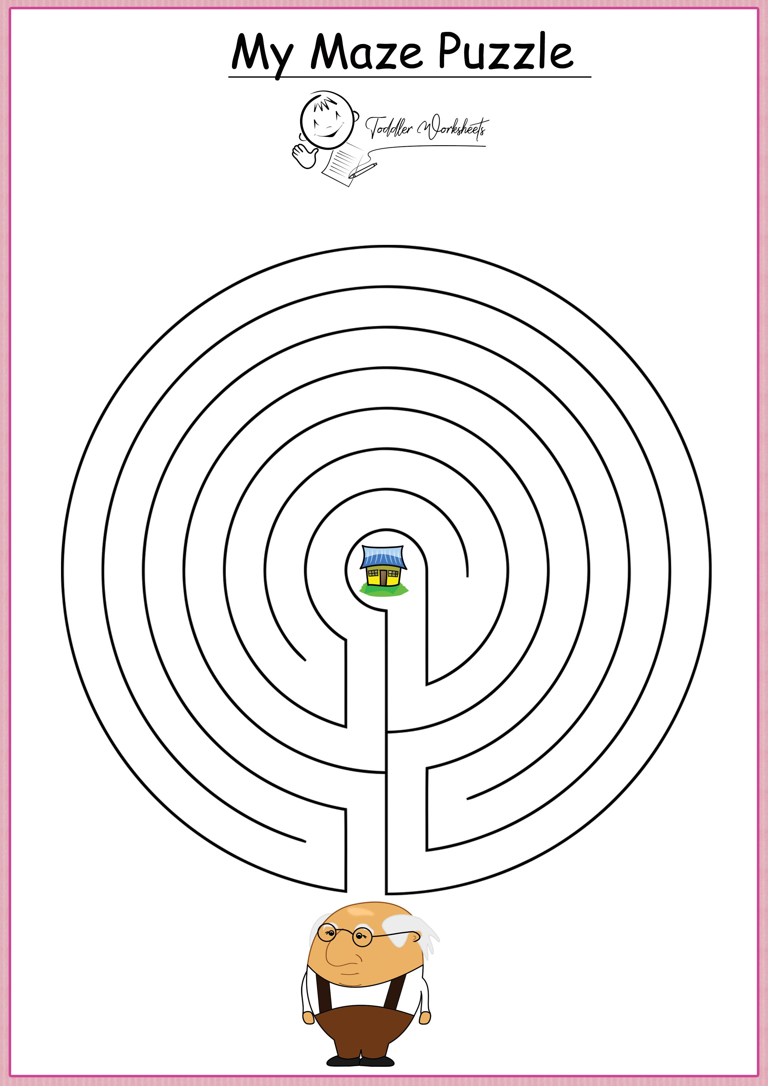 Free Preschool Mazes Worksheets
