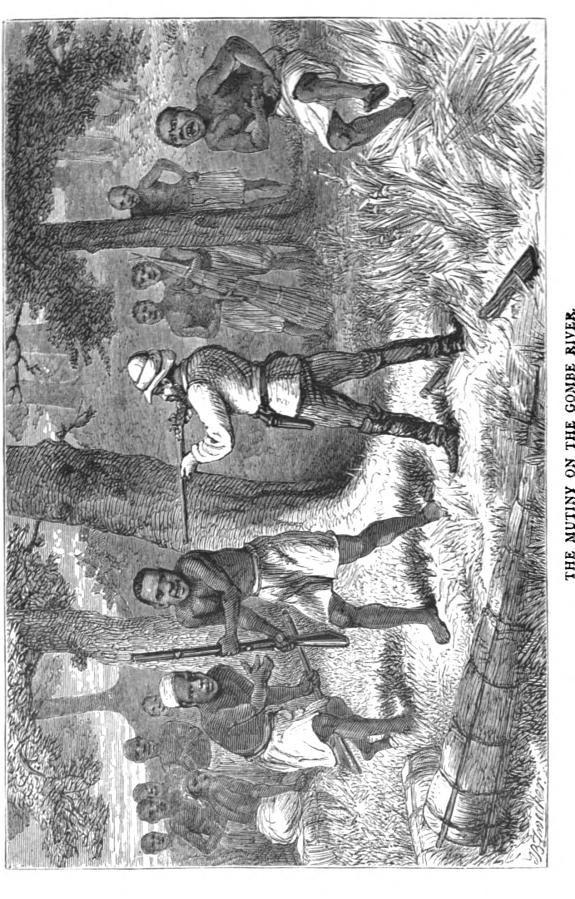 Henry Stanley mutiny on the Gombe River1870u0027s, Central Africa - mr livingstone i presume