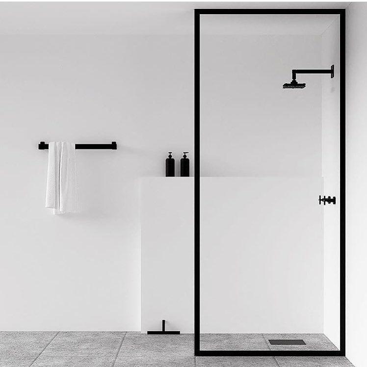 Photo of NICHBA – minimale weiße schwarze und graue Dusche