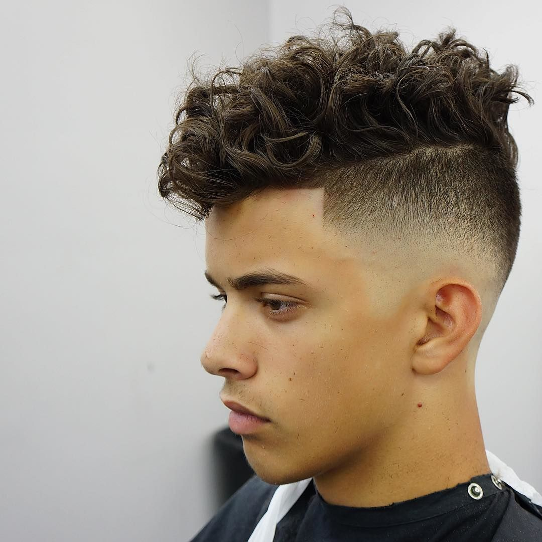 Boy hairstyle mohawk haircuts for people with curly hair  mens long hairstyles